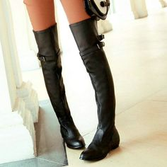 Black Spring Over...  #buy it at  ReShop Store  here http://www.reshopstore.com/products/black-spring-over-the-knee-boots?utm_campaign=social_autopilot&utm_source=pin&utm_medium=pin