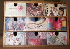 """Image detail for -Hobby Lobby Decoupage """"One 1 Flat Treasure Chest Box Trunk with Hinge ..."""