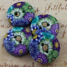 Handmade Polymer Clay Buttons by polymerclayshed on Etsy, $6.99