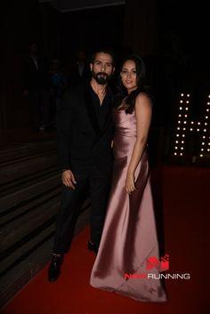 Shahid Kapoor and Mira Rajput at Hello! Hall of Fame Awards 2