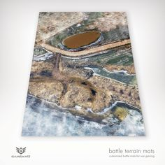 Winter Wasteland theme war games terrain mat is perfect for Warhammer, Warhammer 40K, Dust Warfare & Flames of War.