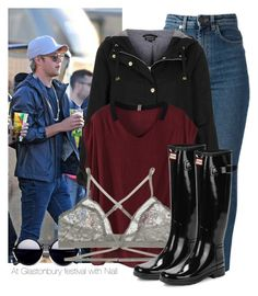 """""""At Glastonbury festival with Niall"""" by dianita-cris ❤ liked on Polyvore featuring Yves Saint Laurent, Topshop, Lonely and Hunter"""