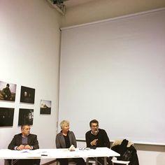 Qui nell'incontro alla Fabbrica del Vapore da Polifemo, con Renata Ferri e Carlo Verdelli, invitati dalla Ferri per presentare Phom.