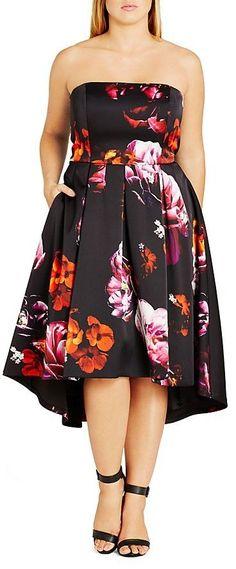 Plus Size Floral Magic Convertible Dress