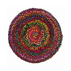 Hand-Braided Color Wheel Rug