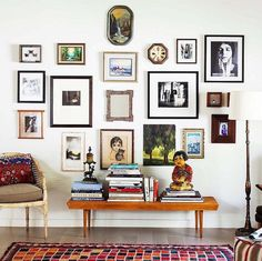 I like the spacing on this eclectic gallery wall.