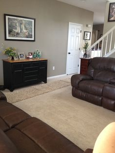 My living room - Benjamin Moore Indian River is the perfect neutral to warm and update a space  www.randmpainting.co