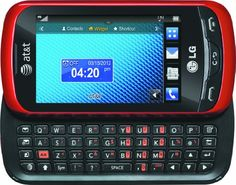 LG Xpression Unlocked GSM Slider Cell Phone with Touchscreen + Full QWERTY Keyboard - Red The LG Xpression is a messaging cell phone featuring a slide Best Cell Phone, Lg Phone, All Mobile Phones, New Phones, Cell Phone Prices, Phones For Sale, Unlocked Phones, Sliders, Cell Phone Accessories