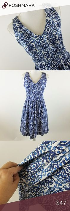 """Blue Milly A Line Dress With Pockets Size 6 Blue Milly Fit and Flare A Line Dress with pockets Size 6 Bust 17"""" Waist 14"""" Hip 20"""" Length 35.5""""  A25-040218 Milly Dresses"""