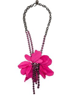 Shop designer necklaces for women at Farfetch for of designs from all your favorite brands, including Alexander McQueen, Gucci and more. Pink Necklace, Flower Necklace, Tassel Necklace, Pendant Necklace, Bird Template, Fashion Accessories, Fashion Jewelry, Textiles, Fabric Jewelry