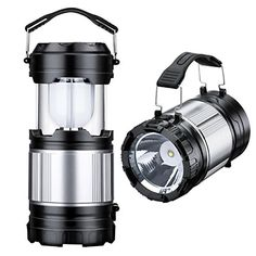 2 Pack Collapsible Camping Lantern Homitt 2 in 1 Handheld Flashlights and Camping Tent Lights with 6 AA Batteries for Hiking Camping Fishing and Backpacking *** Read more reviews of the product by visiting the link on the image.