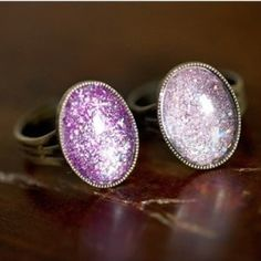 DIY Glitter RingFree Diy Jewelry Projects | Learn how to make jewelry - beads.us