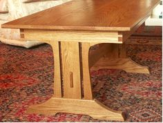 Esstisch Laminate Flooring is easy to install Article Body: Most people who b Tressel Dining Table, 4 Seater Dining Table, Diy Dining Table, Dining Chair Set, Wood Table, Craftsman Dining Tables, Antique Dining Tables, Craftsman Furniture, Shelf Furniture