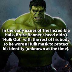 Hulk... WITH A MASK? | Follow @narutofacts_ | #hulk #marvel by marvelousfacts