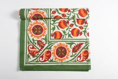 +Pomegranate hand block printed table cloths. Handmade in #India and available from www.poonamshouse.com