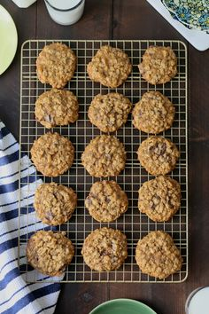 Classic Chewy Oatmeal Chocolate Chunk and Ginger Cookies