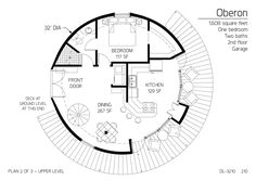 Floor Plan: DL-3210 | Monolithic Dome Institute