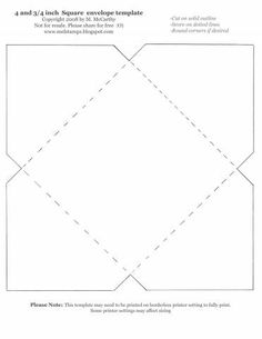 шаблон квадратного конверта распечатать