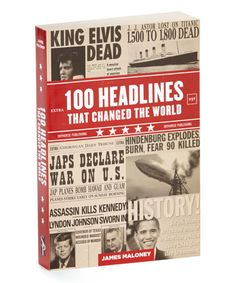 Love this 100 Headlines That Changed the World Paperback on #zulily! #zulilyfinds
