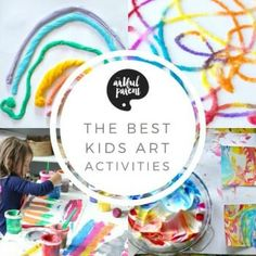 Here's the annual Artful Parent best-of list with the best and most popular kids art activities of all time as well as from the past year. Includes marbling, raised salt painting, puffy paint, slime, & more! Salt Painting, Painting For Kids, Art For Kids, Kids Fun, Preschool Art Activities, Painting Activities, Clay Projects For Kids, Art Projects, Blow Paint