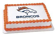 NFL Denver Broncos Football Team Logo EDIBLE Image Cake Cupcake Topper Personalized LICENSED