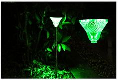 Stainless Steel Waterproof 24 LED Solar Light Independent Solar Path Way Light Solar Metal Adjustable Stake Decoration Garden Light Green Color