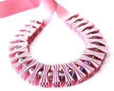 Ribbon Jewelry Dusky rose ribbon jewelry by DapriJewels on Etsy, £20.00