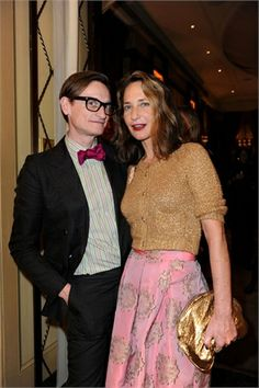 """Day 3 - Uberta & Hamish Bowles at """"Giancarlo Giammetti - Private"""" launch #MFW #MFW14 #hamishbowles"""