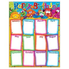 Trend Enterprises Inc. - Happy Birthday Furry Friends Learning Chart on sale now! Get huge savings on all of your teacher supplies at DK Classroom Outlet. Birthday Calendar Classroom, Birthday Bulletin Boards, Birthday Board, 23 Birthday, Birthday Celebration, Classroom Rules Poster, Classroom Charts, Classroom Displays, Classroom Decor