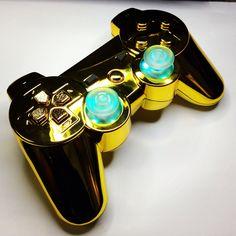 A custom modded Gold PS3 controller from www.intensafirestore.com. From $79.95. #ps3 #ps3controller #playstation #modded #moddedcontroller #mw3 #black #blackops #blackops2 #gta #gtav #game #gamer #games #gaming #gamerchick #girlgamers #custom #customcontroller #pictureoftheday #ps4 #controllermods #controller #controllerporn #ps3porn #customcontrollers #moddedcontrollers #gold