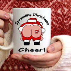 Items similar to Funny Christmas Mug-Spreading Christmas Cheer Mug-Naughty Santa Gift For You-Funny X-Mas Coffee Cup on Etsy Christmas Gifts For Adults, Funny Christmas Gifts, Christmas Mugs, Little Christmas, Christmas Humor, Naughty Santa, Purple Aesthetic, Santa Gifts, Gifts For Husband