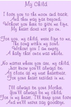 Love you......Mom