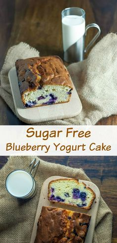 This light and fluffy sugar free blueberry yogurt cake makes for a perfect guilt free treat at least on a sugar front. The recipe is fairly straightforward and it doesnt call for any unusual ingredients so why not give it a try? You may just be surprise Sugar Free Baking, Sugar Free Treats, Sugar Free Desserts, Sugar Free Recipes, Dessert Recipes, Blueberry Recipes Sugar Free, Sugar Free Cakes, Sugar Free Diet, Sugar Free Snacks