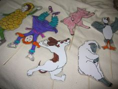 Make puppets for Silly Sally blog.