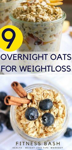 Overnight oats in a jar for weight loss. A healthy weight loss plan with overnig… Overnight oats in a jar for weight loss. A healthy weight loss plan with overnight oats recipes for clean. Weight Loss Snacks, Healthy Weight Loss, Overnight Oats In A Jar, Healthy Snacks, Healthy Eating, Healthy Breakfasts, Healthy Recipes, Diet Recipes, Brunch