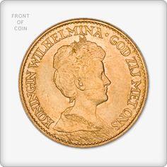 Netherlands 10 Guilder Gold Coin