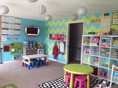 IKEA on a Daycare Budget Daycare spaces, Daycare design, Home childcare Home Daycare Rooms, Daycare Spaces, Childcare Rooms, Preschool Rooms, Preschool At Home, Childcare Decor, Daycare Setup, Daycare Design, Daycare Organization