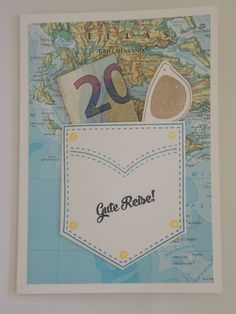 Geldgeschenk Karte für die Reise