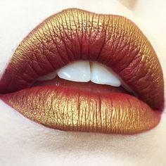 Amazing Lip Art Made With Kat Von D Everlasting Lipstick in Nosferatu!
