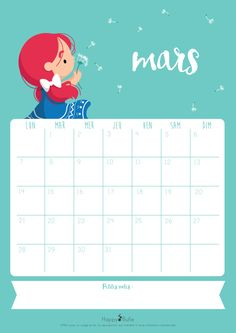Calendrier HappyBulle mars 2016