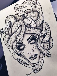 Gorgon Enire, not Medusa but one of her cousins #tattooswomensfaces