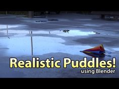 (57) How to Create Realistic Puddles in Blender - YouTube