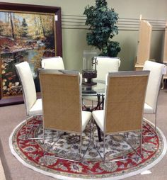 Dining Chair - Chrome/Rattan Dining Chair  - $103.95