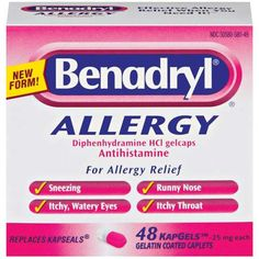 Bye Bye Benadryl, Why You Should Skip Antihistamines During An Allergic Reaction