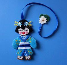 Marcapáginas geisha azul 1 by Gallimelma e Imaginancias, via Flickr