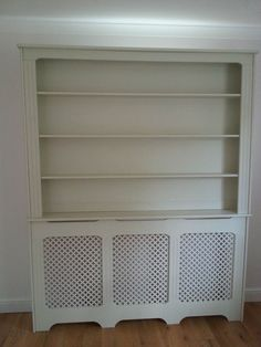 Radiator cover with Bookcase shelves