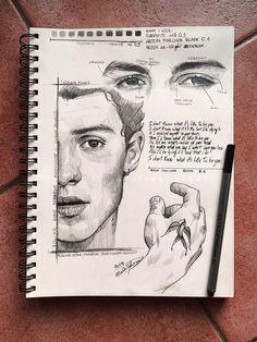 173 Best art images in 2019 Art Drawings Art drawings dessinaucrayon Graphite studies ShawnMendes - A Level Art Sketchbook, Sketchbook Layout, Arte Sketchbook, Sketchbook Inspiration, Sketchbook Ideas, Layout Inspiration, Pencil Art Drawings, Art Drawings Sketches, Sketch Art