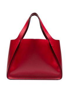 Stella McCartney Bolsa Tote 'Stella' - Farfetch - Another! Fashion Handbags, Tote Handbags, Purses And Handbags, Fashion Bags, Leather Handbags, Luxury Handbags, Cheap Handbags, Pink Purses, Spring Handbags