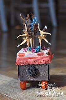 ballerina exploding box, for Hydrangea Hippo