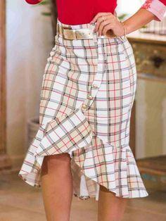 💟💟💟 Work Fashion, Cute Fashion, Womens Fashion, Pencil Skirt Outfits, Culottes, Dress Sewing Patterns, High Waisted Skirt, Vintage Outfits, Fashion Dresses